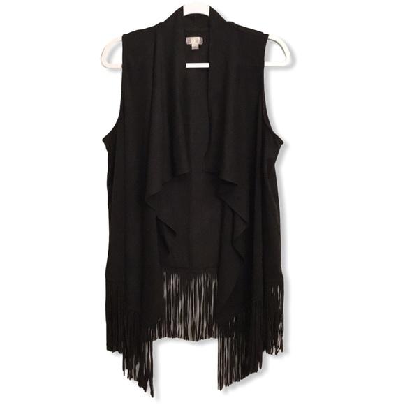Decree faux suede western style vest size XL